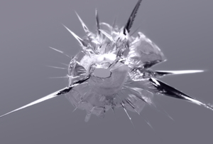 scratched glass