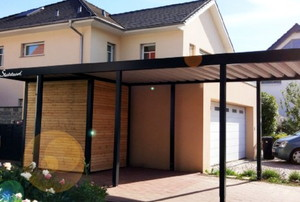 carport attached to a home