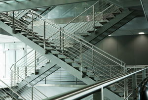 care for a steel staircase