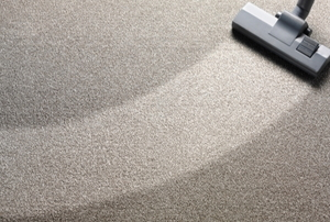 A vacuum on carpet.