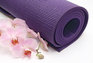 Yoga Mat with Orchid