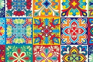 tiles with colorful patterns