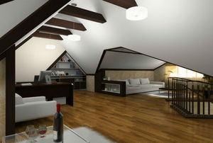 exposed ceiling beams