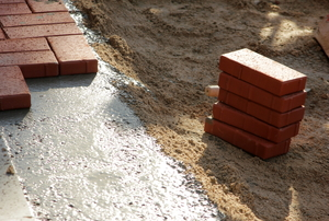 brick pavers to be installed