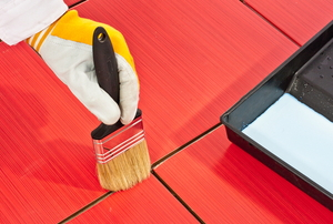 painting tile sealant grout