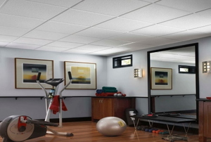 Room with exercise equipment