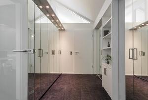 Closet doors with mirrors.