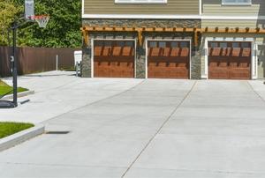 a concrete driveway