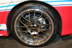 A car wheel.