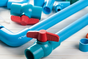 Blue pipes.