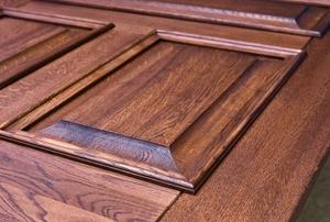 wooden door with panels
