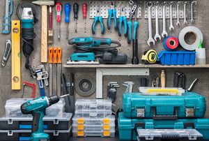 An assortment of tools