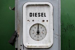 an old off-white diesel machine