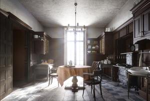 Victorian style kitchen