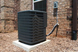 air conditioning unit outside a building