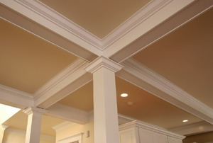 Crown molding in a home.