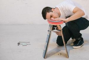 Jason Podlaski and a deckstool.