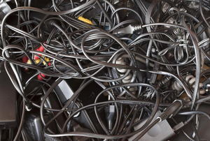 Wires in a pile.