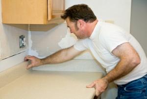 installing countertop