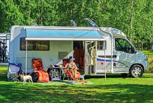 rv with awning