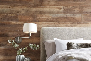 A maple lumber wall.
