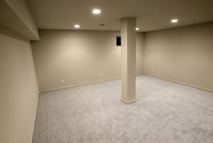 A basement.