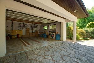 A garage floor tile.