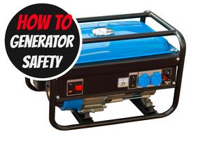 A portable generator.