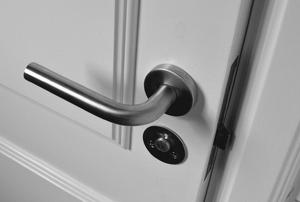 doorknob on a white door