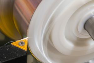 a rotating plastic lathe