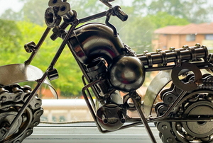 metal craft animals made from cans