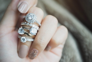 Rings on a finger.