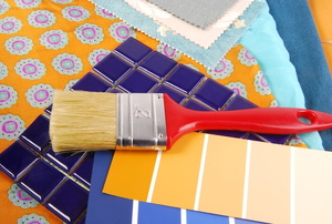 tile and paint brush