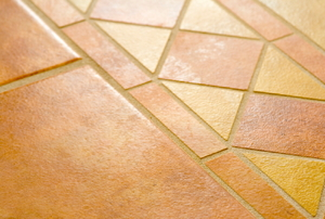 Ceramic tile floors.