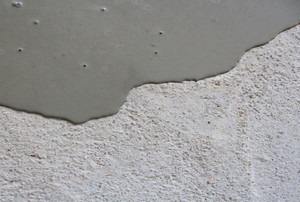 Self-leveling compound seeping across a floor