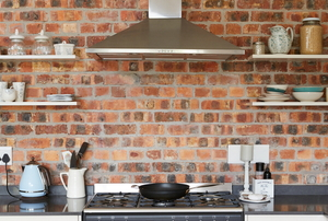 Brick Veneer in a kitchen