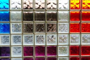 glass block bar