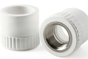 white PVC pipe couplings