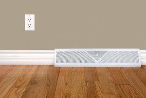 Modern baseboard heater