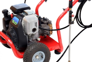 A pressure washer on a white background.
