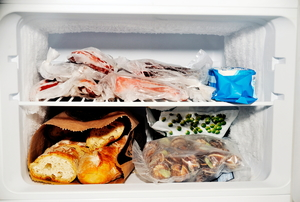 freezer filled with food