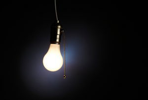 light bulb with pull chain