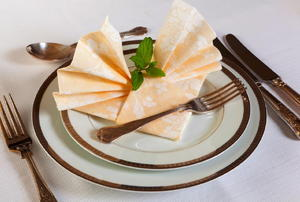 A formal place setting.