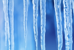 icicles on a blue background