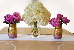 summer flower table setting