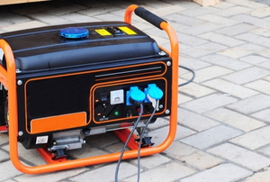 a black and orange generator