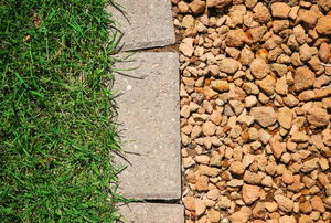 Gravel over french drain in lawn
