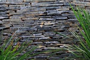 A slate wall.
