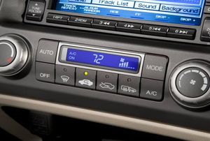 The climate control of a Honda Civic.