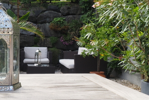outdoor armchairs with cushions